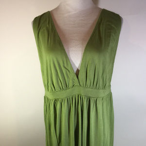 Asos Green Sleeveless Maxi Dress Coverup 14 New
